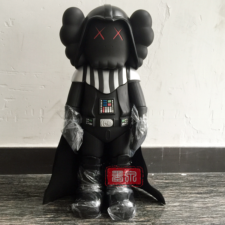 bearbrick 20inch kaws original fake star wars black knight dark vader dolls with origina box medicom toy(China (Mainland))