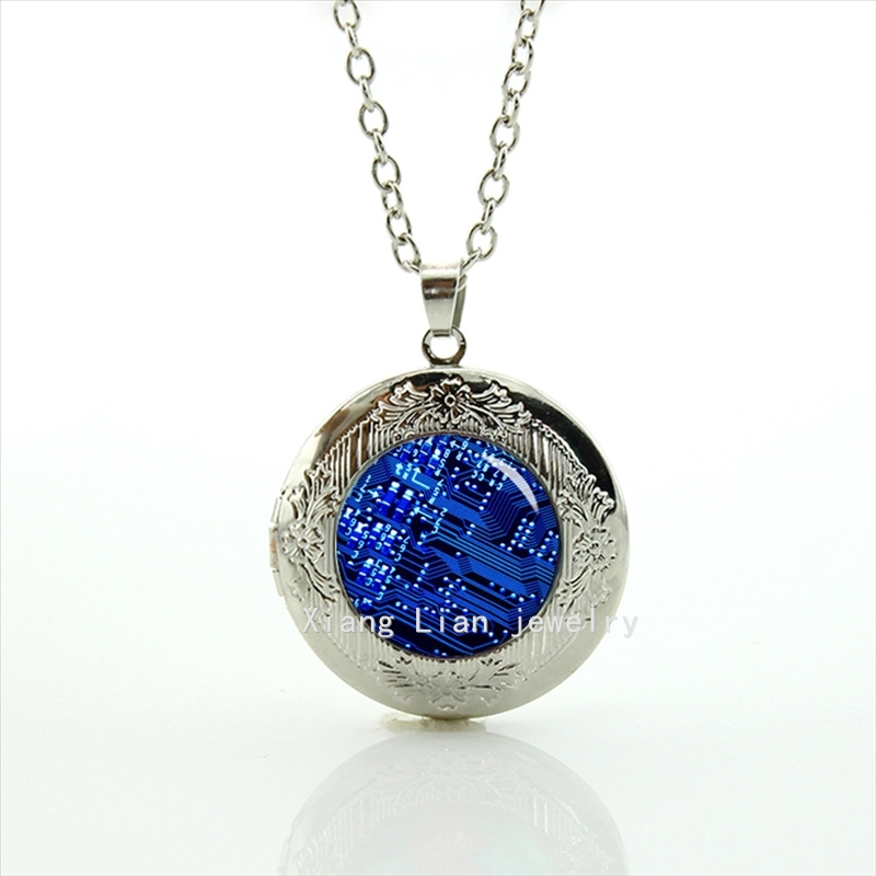 The Exquisite handicraft circuit board computer fashion wedding unique Wedding gifts for men, best man locket necklace T557(China (Mainland))