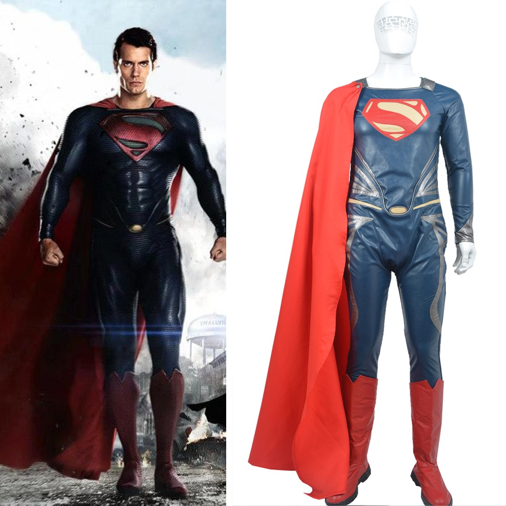 movie coser 5 high quality super hero superman man of steel adult men halloween leather