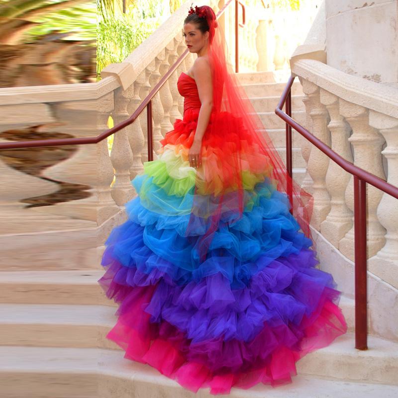 Popular Rainbow Wedding Dresses-Buy Cheap Rainbow Wedding Dresses lots from China Rainbow ...
