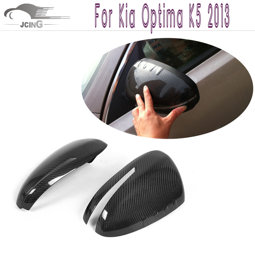Carbon Fiber Side Wing Rearview Mirror Covers Fit Kia Optima K5 2011-2013 Add style Rearview Mirror Caps Car Styling