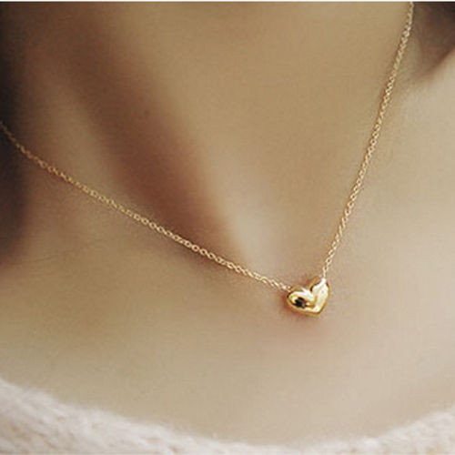 2015 gold heart choker collar for women small accessories heart necklace short design chain gold necklaces & pendants Jewelry(China (Mainland))