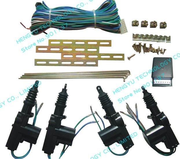 universal car central door locking system heavy duty power 12V 1master 3slave door actuator fit for all car power 4 door locking