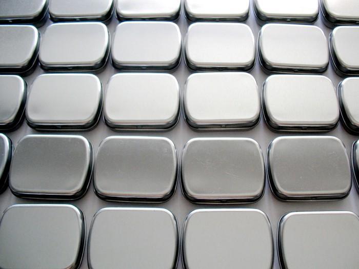 Pack of 20 pcs Silver Tin Box Metal Flip Storage Mint Gum Candy 6*5*1.7cm(China (Mainland))