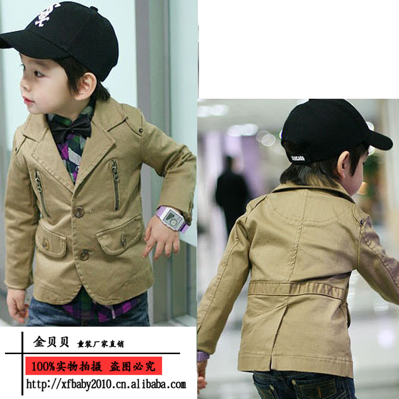 Free shipping Children outerwear 13 handsome male child suit child casual jacket coat<br><br>Aliexpress