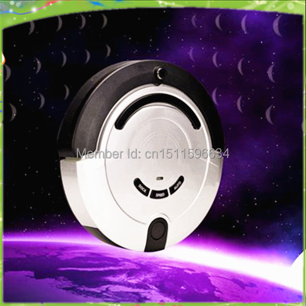 Free shipping-2014 new arrival most advanced upgrade full automatic mini vacuum cleaner robot(China (Mainland))