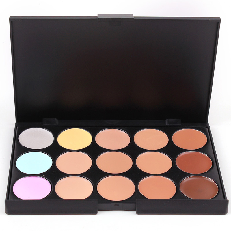 10*15cm Natural Professional Concealer Palette 15 Colors makeup Foundation Facial Face Cream Palettes Cosmetic make up color(China (Mainland))
