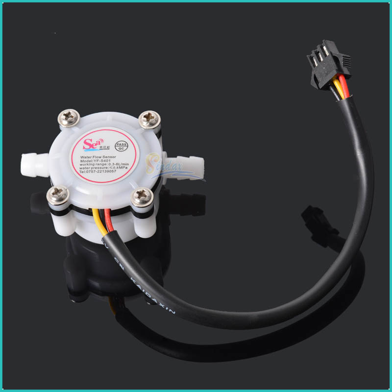 New 2015 Brand New Water Flow Sensor Switch Meter Flowmeter Coffee Dispenser Counter Fluid Control 0