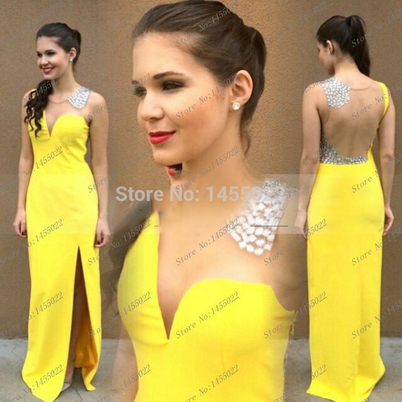 Complementos para un vestido amarillo de fiesta
