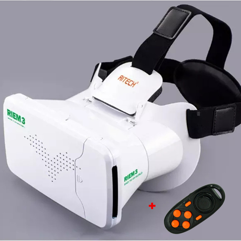 RITECH III Update from Ritech II VR Virtual Reality 3D Glasses Head Mount Oculus Rift google Cardboard+ Bluetooth Remote Control<br><br>Aliexpress