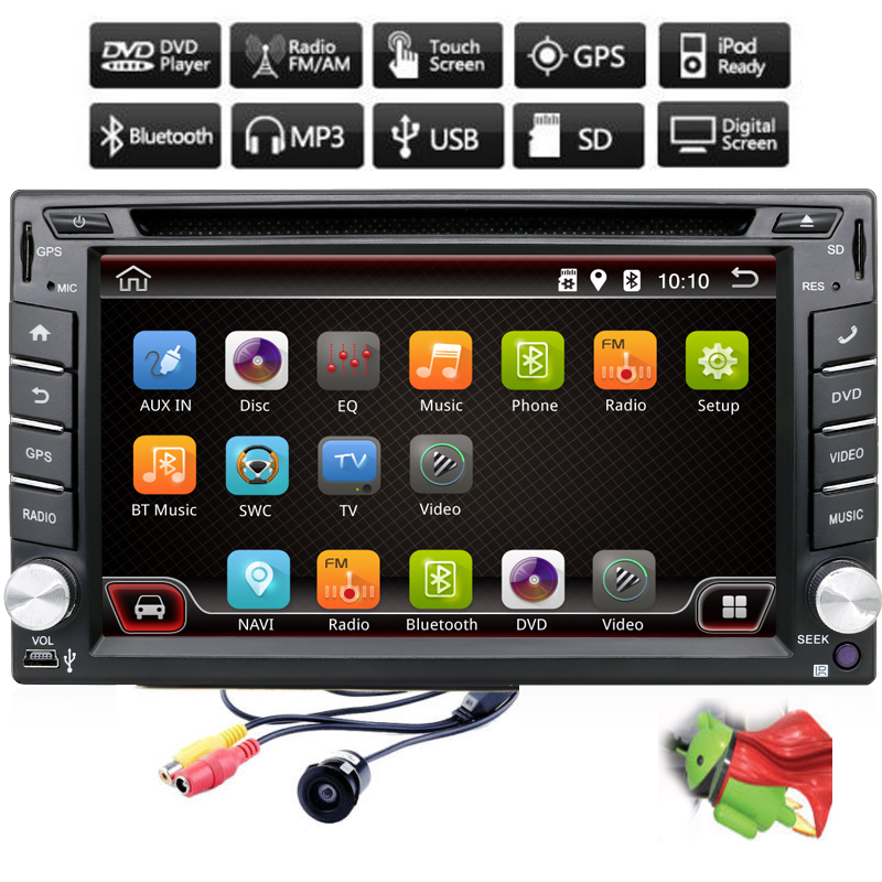In Dash Android 4.4 CPU Double 2 Din Car GPS Nav DVD Player Stereo Headunit Video BT Car PC CD WiFi 3G car parking CAMERA HDTV(China (Mainland))