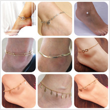 HOT!Summer 16 style Beach Anklets Bracelet on a leg Sexy Chain on Foot  Anklet For Women Fashion Leg Braceket  Foot Jewelry