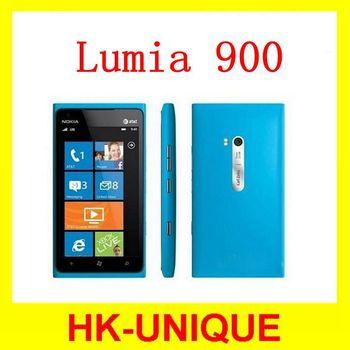 original unlocked Nokia Lumia 900 3G network GSM WIFI GPS 8MP canera 16GB storage Windows OS cell phones free shipping in stock