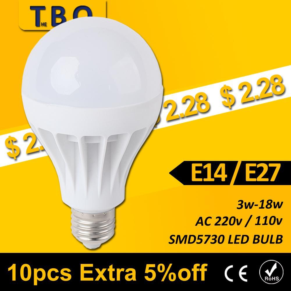 LED E27 E14 LED Lamp lights LED bulb 3w 5w 7w 9w 12w 15w Led Light Bulb Cold white/warm white AC 220V 110V 127V SMD 5730 2835(China (Mainland))