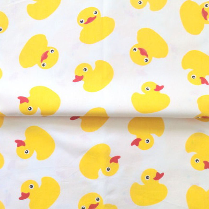 160cm twill cute ducks print cotton materials children for Cotton fabric for children s clothes