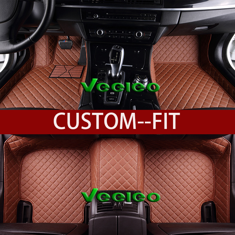 Veeleo +8 Colors Leather Car Floor Mats for Lincoln Navigator 2006-2016- 7 Seats Front & Rear Liner Waterproof 3D Carpet(China (Mainland))