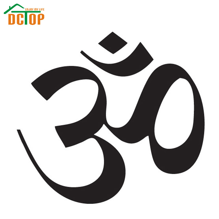 DCTOP Hot Sale OM Sign Wall Sticker Yoga Removable Home Decor Living Room Art Murals Vinyl DIY Wall Decals(China (Mainland))