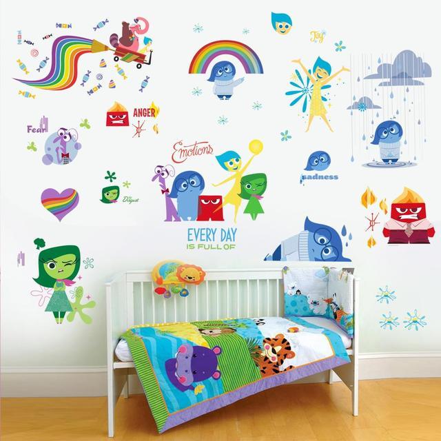 Наизнанку мультфильм детская стикер стены для детей номеров настенных наклеек арт-mail украшения дома IO007
