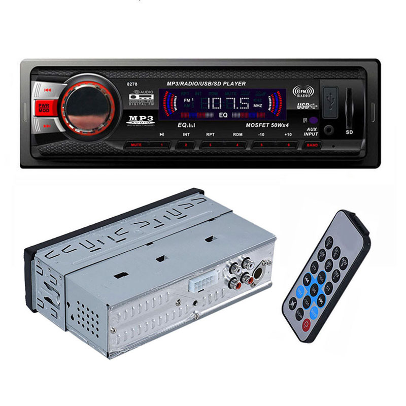 In Dash Car Bluetooth FM AM Player Audio Stereo MP3 Aux Input Receiver with SD USB Preset 18 Station High Quality(China (Mainland))