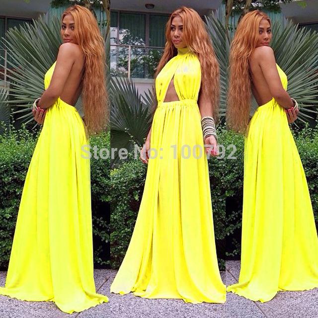 yellow strapless maxi dresses summer « Bella Forte Glass Studio