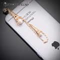 Korean Style  Fashion Crystal  Cell Phone Plug Jewelry  Enamel  Umbrella & Shoes Dust  Plug  For Sumsung Iphone Accessoires