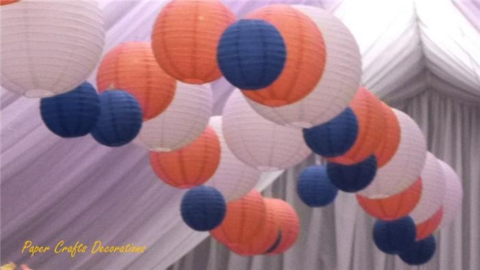 Blue-and-peach-paper-lanterns
