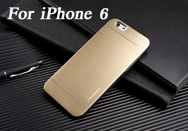 Brushed Aluminum Hard case for iPhone 6 4.7 inch Luxury Metal & Plastic Hybrid Mesh back cover for iphone6 2014(China (Mainland))