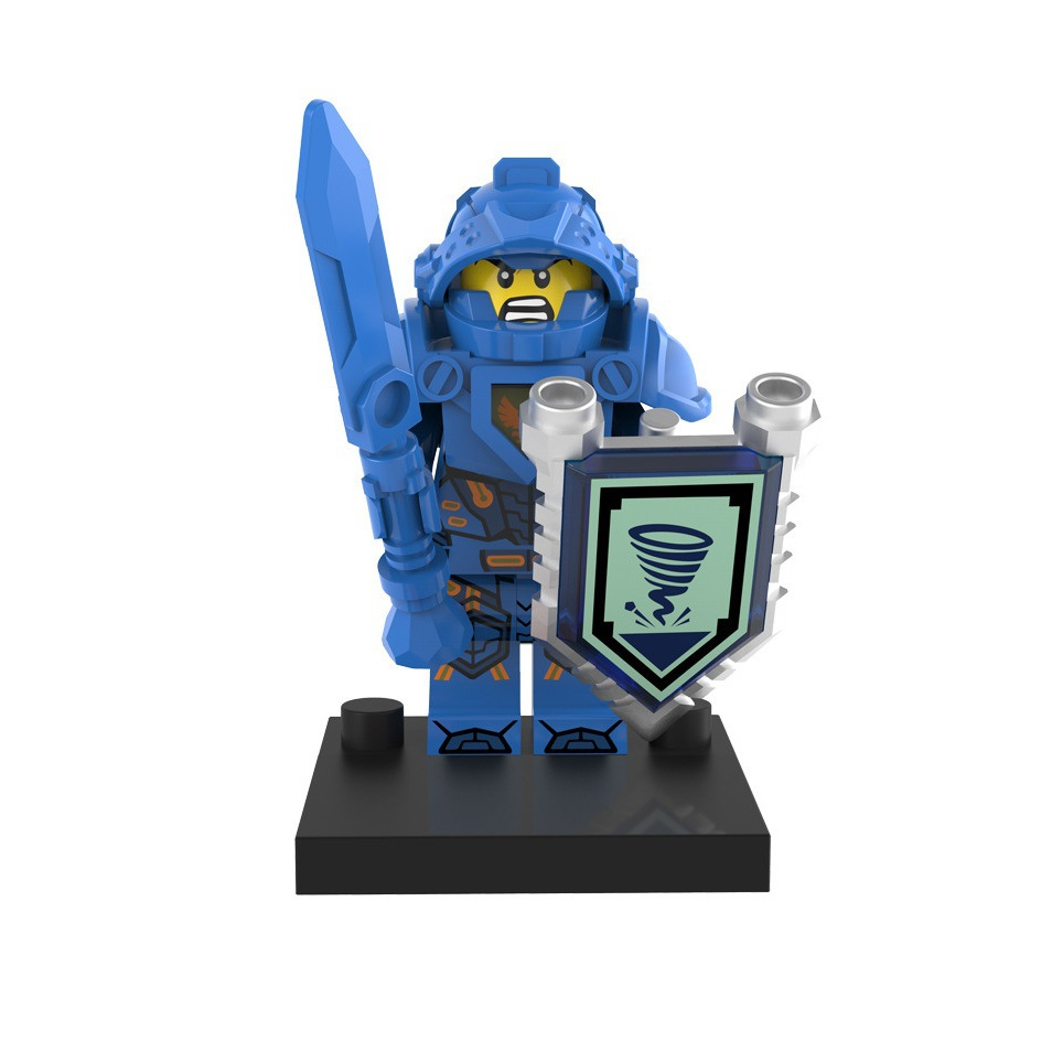 Newest Single sale nexo knights Clay Aaron Lance macy Axl Robin Minifigures Building Block self-locking kids toy gift(China (Mainland))