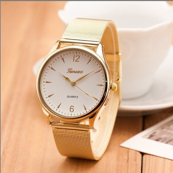 W18 2016 New Fashion Top Quality Famous Brand Design Luxury Watches Men Stainless Steel Strap Geneva Quartz Women Dress Watch