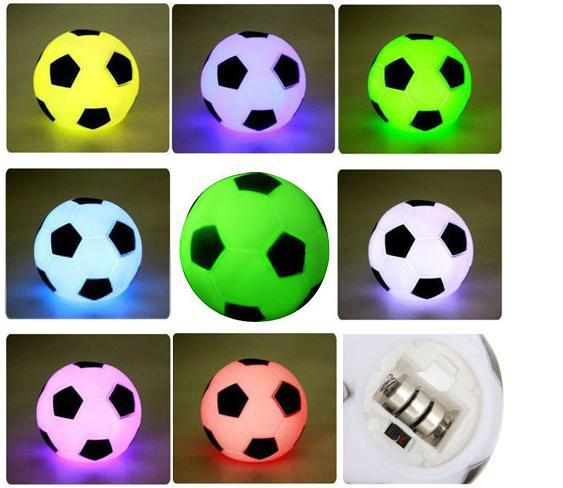 Best Quality Colorful LED Football Soccer Light Lamp Night Party Holiday Decoration Xmas Gift Present For Children(China (Mainland))