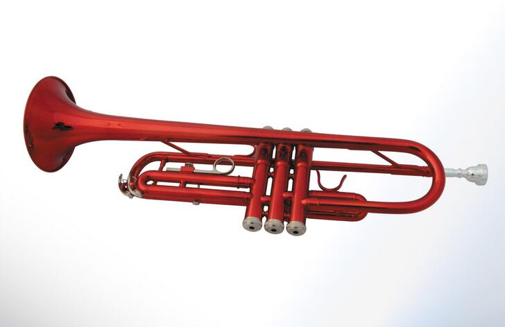 Brass manufacturers supply professional piccolo trumpet in B flat three-tone red paint No. Small(China (Mainland))