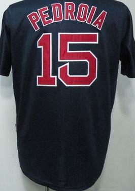 wholesale Boston 15 Dustin Pedroia blue green grey red white men's baseball Jersey Embroidery logos(China (Mainland))