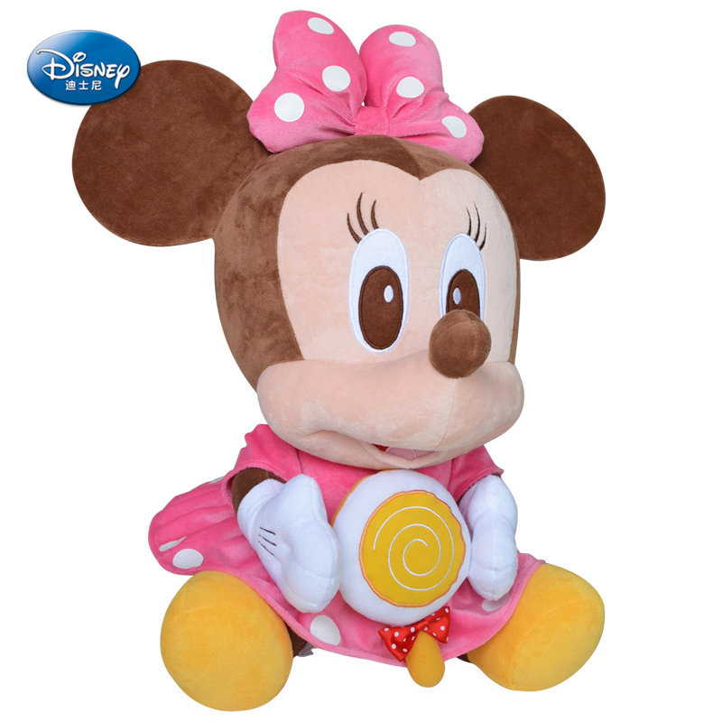 """Disney Minnie Mouse 14"""" inches Plush Sitting lollipop Baby Stuffed Toy Kids Preferred doll(China (Mainland))"""