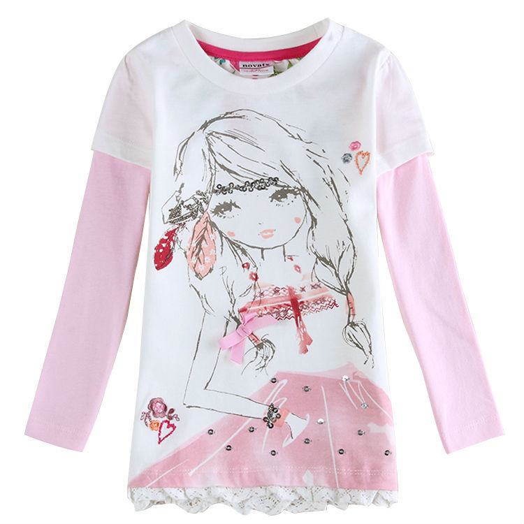 Baby girl t shirt long sleeve summer style children t shirt for girls t shirt kids girl tops summer 2015 nova brand<br><br>Aliexpress