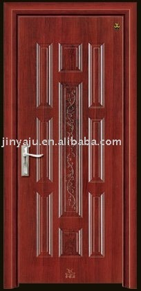 steel wood interior door(filling with poly foam),steel wooden interior door