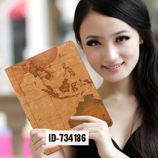 World Map Pattern Case for apple ipad mini retina retro luxury case smart Pc tablet cover case skin for ipad mini Free shipping(China (Mainland))