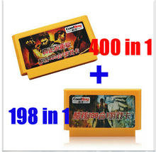 2015 new 8 bit game cartridge classical game card one pair hot sale ------ 400 in 1 + 198 in 1(China (Mainland))