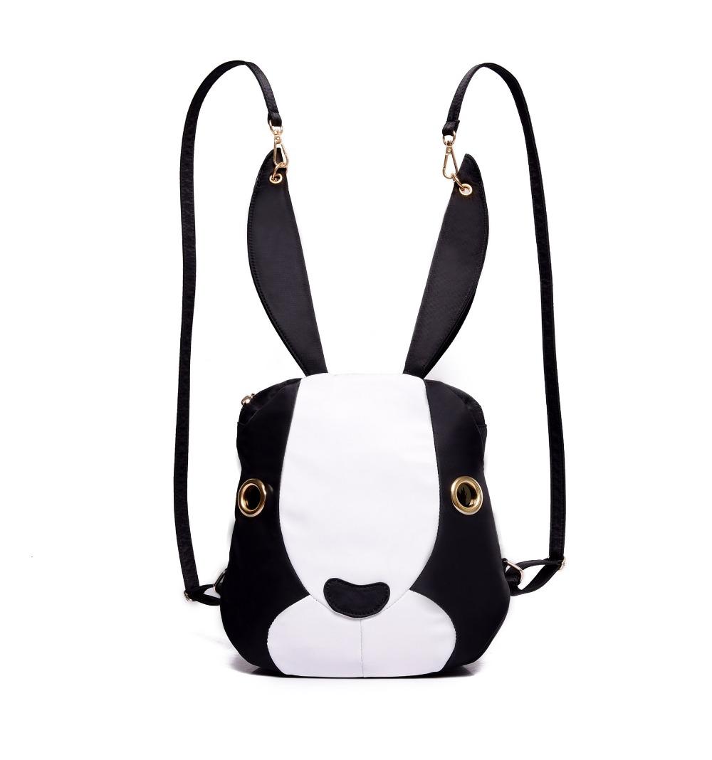 Cute bunny nylon shoulder bag Korean fashion casual cartoon children's school bags personality handbag(China (Mainland))