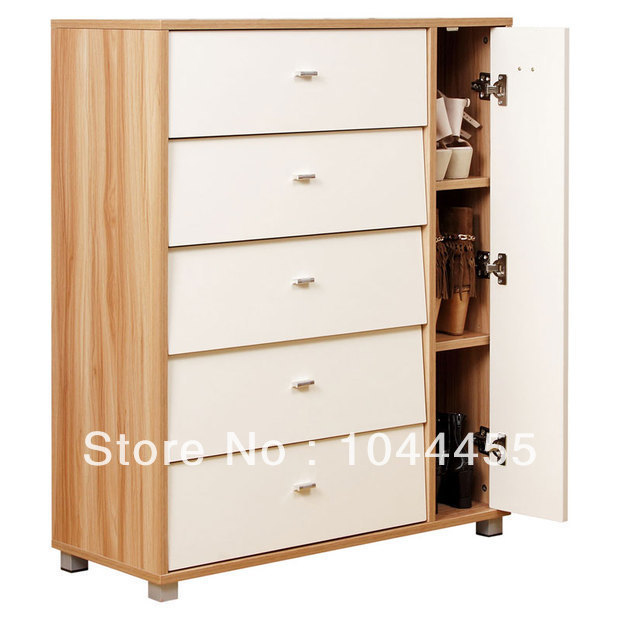 2014 new wooden shoe rack living room furniture storage cabinet with doors(China (Mainland))