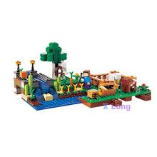 LELE/BELA My world Minecraft Farm 262PCS Building Blocks DIY Assemble Figure Construction Enlighten Bricks Toys axi