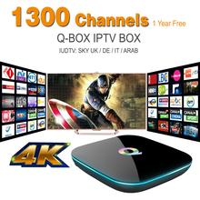 Russian Iptv Box Android 5.1 Eueopean IPTV Box 1Year 1300+ IPTV Live Channels, Spanish Sky Turkish Germany Wifi Tv Receiver