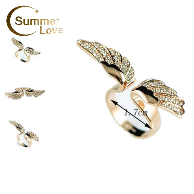 New Arrival Items  Hot Sales Angel Wing Jewelry Rings Wholesale Designer Jewelry Lovely For Women  R148