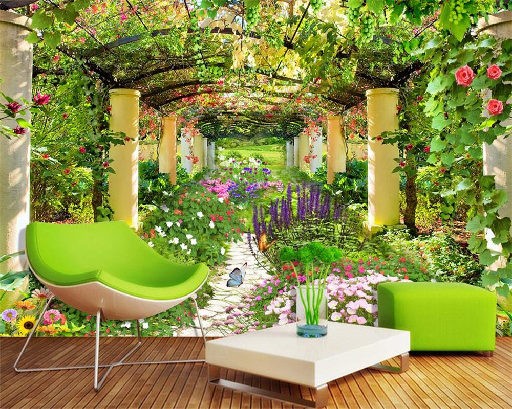 online kaufen gro handel garten wandbild tapete aus china garten wandbild tapete gro h ndler. Black Bedroom Furniture Sets. Home Design Ideas