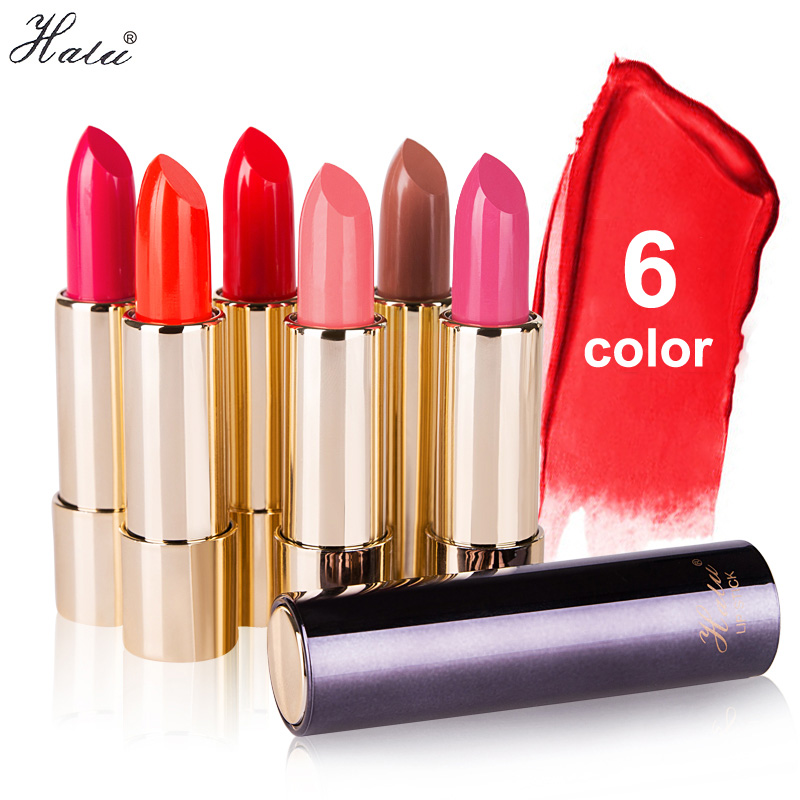 Halu Brand Lipstick Moisturizing Lipstick Rouge Waterproof Lasting Beauty Baby Lips Lasting Hydra Nourish 6Color(China (Mainland))