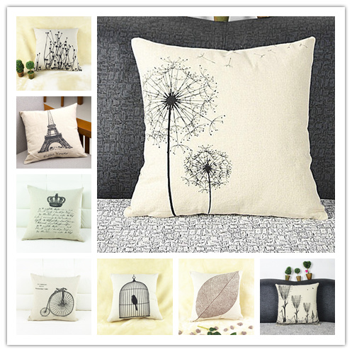 Hot sales zakka thin linen cheap cushion/pillow(not including insert/filling) for sofa/ home decoration/coffee shop/office(China (Mainland))