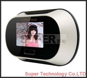 "0.3M pixel 2.5"" LCD digital doorview camera DVR digital door viewer camera digital checking camera for door,home security camera"