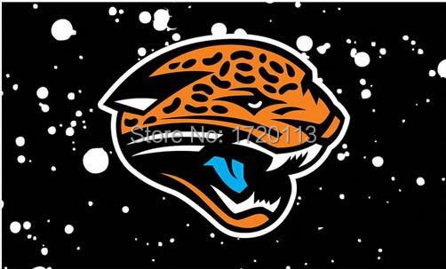 3X5FT NFL Jacksonville Jaguars spot flag banner metal Grommets Free Shipping custom flag 100D Digital Print(China (Mainland))