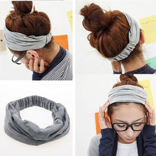 Cotton Turban Headbands for Women Elastic Wide Headband Head Wrap Hairband Turbante Headwear Girl Hair Accessories A0506(China (Mainland))