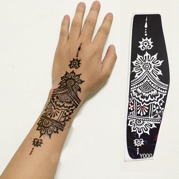achetez en gros tatouage au henn pochoirs en ligne des grossistes tatouage au henn pochoirs. Black Bedroom Furniture Sets. Home Design Ideas