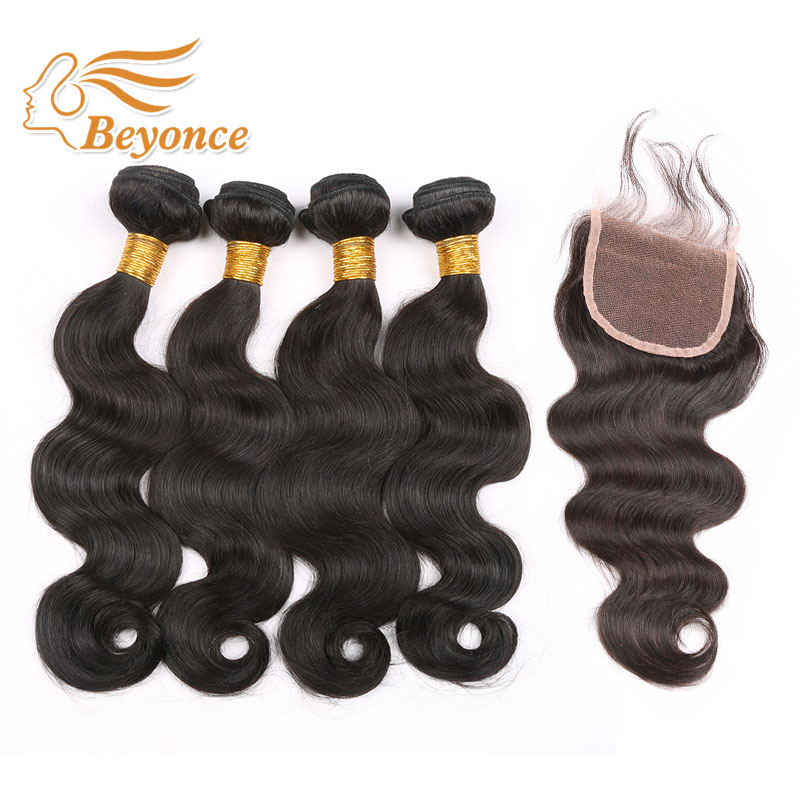 Brazilian Body Wave Bundles with Lace Closure 4pcs/lot Human Virgin hair Grade 7A Virgin Unprocessed Hair DHL Free shipping<br><br>Aliexpress